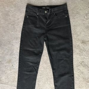 Black Old Navy High Rise Straight jeans